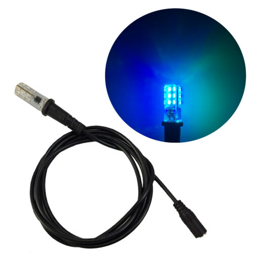 Blue green LED bulb ocean water effects lighting 12V 5 foot cable EEL-1.5M-OB