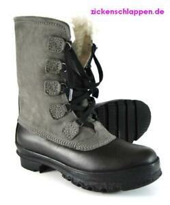 K-amp-S-Boot-Gr-4-5-37-Grau-Asfalt-warm-gefuettert-Kennel-Schmenger