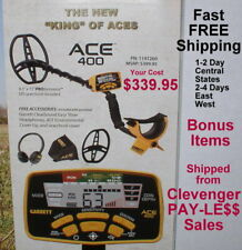 2021 Garrett Ace 400 Metal Detector With Extra Items Fast Free Shipping