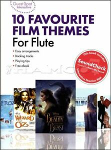 10 Favourite Film Themes For Flute Sheet Music Book Frozen Mamma Mia Goldfinger-afficher Le Titre D'origine