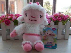 NEW-DISNEY-Doc-McStuffins-Friends-Plush-Lambie-8-034-Stuffed-Toy