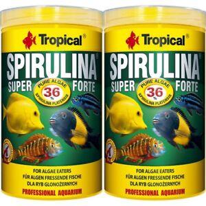 2-x-1000-ml-Tropical-Spirulina-Super-forte-36-Flocken