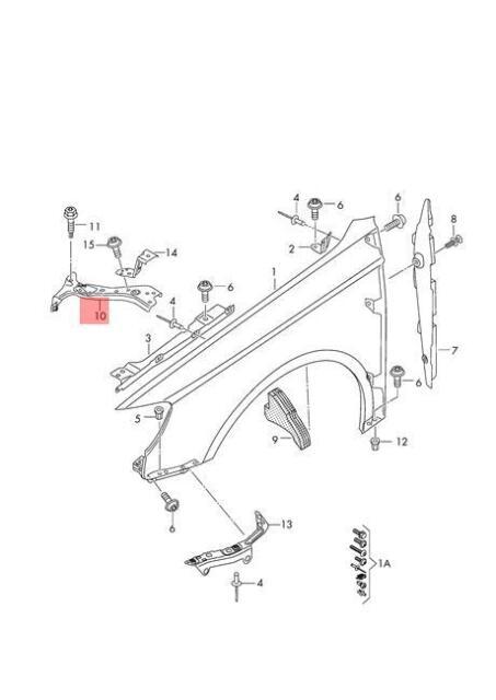 Quattro Genuine Bracket Right AUDI A3 S3 Sportback Lim Rs3 8V0821468E