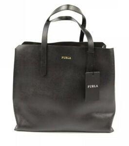 Furla-Black-Saffiano-Leather-Tote-Medium-Shoulder-Bag-Shopper-288299-G7241-NWT