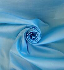 Per metre  Faux Silk Taffeta Quality Curtain Fabric In Baby Blue