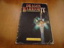 Dragon Warrior 4 IV Nintendo NES Instruction Manual Booklet ONLY