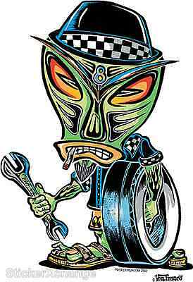 Stoned Hoods Sticker Decal Kustom Von Franco VF30 Roth