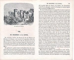 28 Chartres à La Loupe 1860 guide (12 p.) + 2 xylogr. orig. Château de Villebon FelRESUW-08070723-503110561