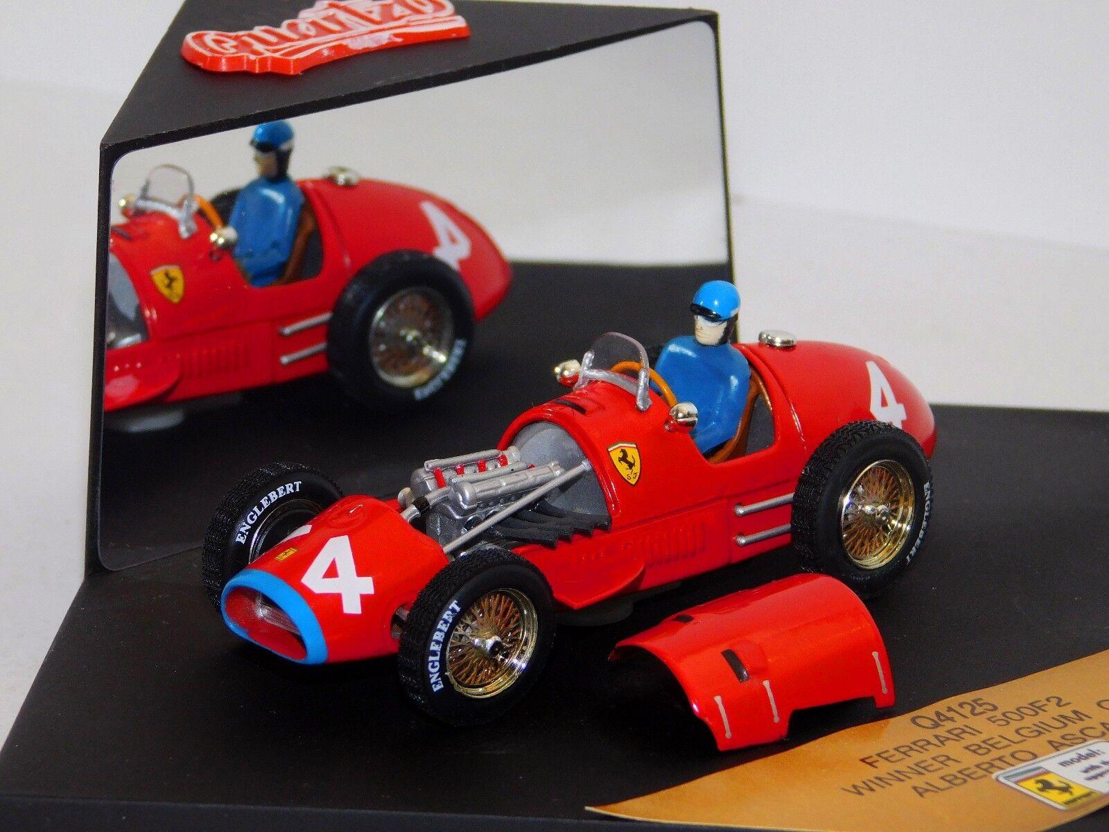 FERRARI 500F2 A. ASCARI WINNER BELGIUM GP 1952 QUARTZO Q4125 1 43