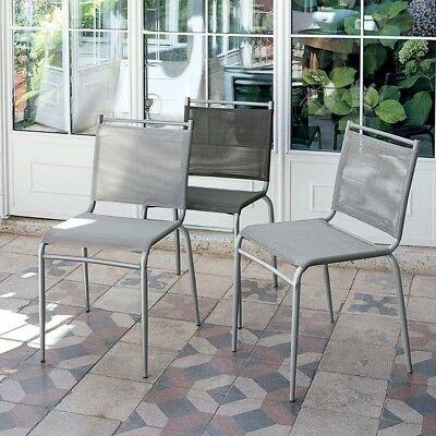 04 Sedie struttura metallo seduta tessuto plastico Yuppie | eBay