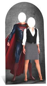 SC-665-Superman-amp-Lois-Lane-Stand-In-ca-195cm-Pappaufsteller-Figur-Lebensgross