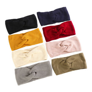Women-039-s-Knitted-Turban-Headband-Twist-Knot-Hair-Band-Winter-Warm-Ear-Head-Wrap