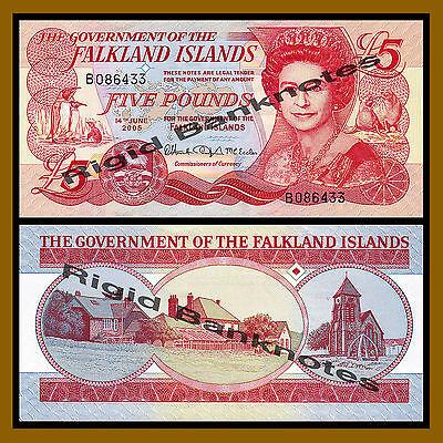 QEII P-17 CV-$48 UNC 2005 Falkland Islands 5 pounds