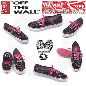 351cbe8f9e Image is loading Vans-HELLO-KITTY-Authentic-Black-Passion-Flower-W10-