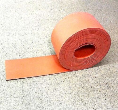 "Silicone Rubber Sheet Solid US Hi-Temp Red 1//8/'/'Thk x 4/"" W x 36/"" L Strip 60Duro"