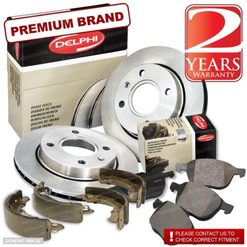 Daihatsu Sirion 1.0 Front Pads Discs 234mm /& Rear Shoes 180mm 53BHP 04//98-On