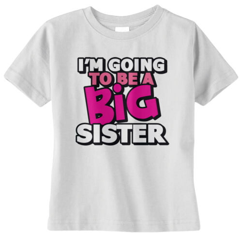 Threadrock Baby Girls I/'m Going To Be A Big Sister Infant T-shirt Announcment