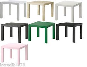 Ikea Lack Tavolino Quadrato Comodino Colori Vari A Scelta Ebay