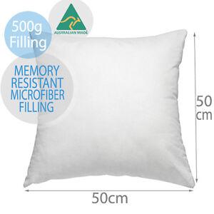 Aus Made Cushion Inserts Premium Memory Resistant Polyester Fibre 50x50CM