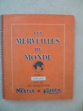 ALBUM NESTLE & KOHLER - Les merveilles du monde n° 3 - 1956/1957 - COMPLET