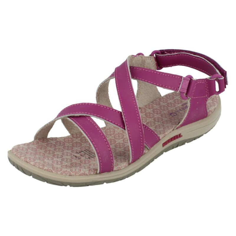 Kenntnisreich Girls Merrell Leather Hook And Loop Fastening Sandals Jazmin Der Preis Bleibt Stabil