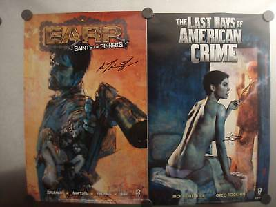 Earp Last Days Of American Crime 11 X17 Poster Sdcc Signed San Diego Comic Con Ebay