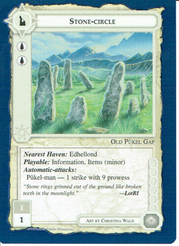 MIDDLE EARTH BLUE BORDER PREMIER RARE CARD STONE-CIRCLE