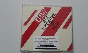 U2 all because of you 1TR PROMO   ISRAELI PROMO cd single