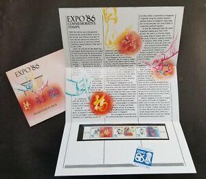 [SJ] Singapore Expo '86 1986 Art Orchid Flower Calligraphy Batik (p.pack) MNH