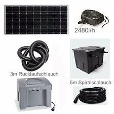 80 Watt Solar Teichpumpe Akku Bachlaufpumpe Filter Pumpe Solarpumpe Gartenteich