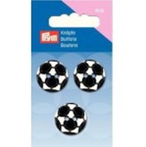 Prym Kinderknöpfe 2-Loch Fußball 20 mm schwarz//weiß 3 St Art-Nr 316159