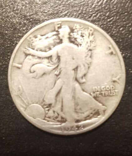 1942 50C Walking Liberty Half Dollar Rare Collectible Antique 90 /% Silver