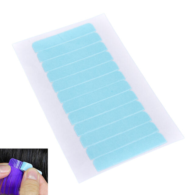 12Tabs Precut Super Double Sided Tape Weft Tape-in Hair Extension Replacement JR