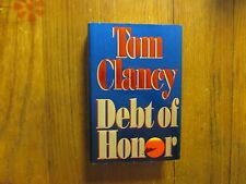 TOM CLANCY(Died-2013)DEBT OF HONOR '94 1st Edit Hardback w/Signed 3x5 Index Card