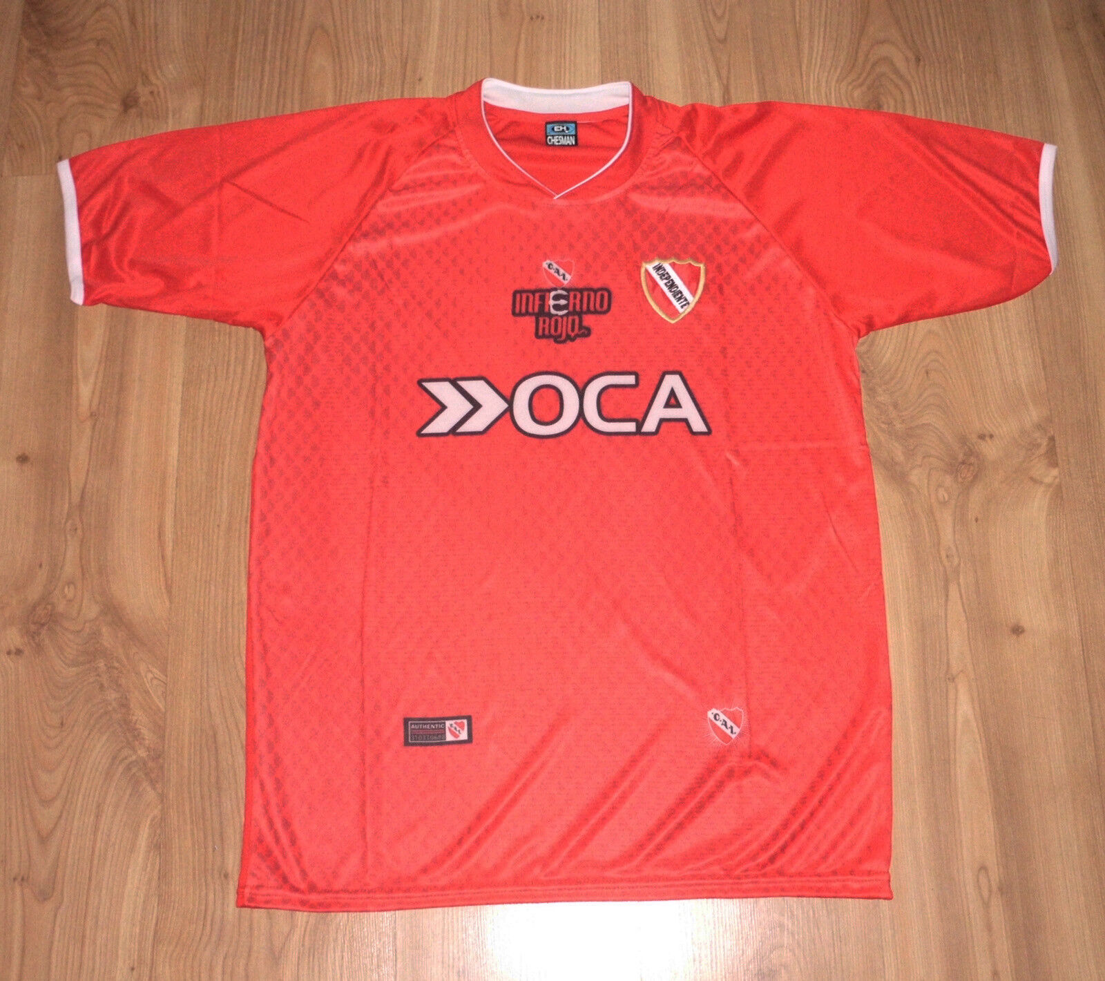 Fan Jersey C. a. I Indepenente, Silberinien, GR.L   XL, New