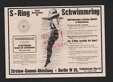 BERLIN, Werbung 1925, Strelow-Gummi-Abteilung S-Ring Schwimmring