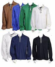 Men's Scottish Jacobite Ghillie Kilt Shirt 7 Different Colours All Sizes