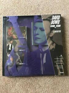 DAVID-BOWIE-Sound-Vision-RYKO-1989-Box-set-with-3cassettes-amp-book