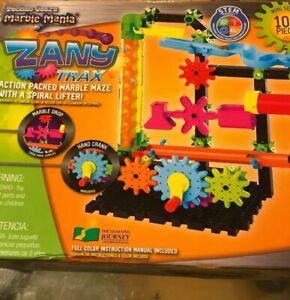 Techno Gears Marble Mania Zany Trax 100 Pc Set New Ebay
