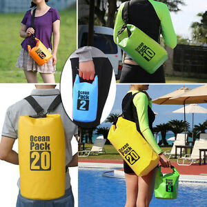 49cbc68a40 2-30L Sports Waterproof Dry Bag Backpack Pouch Floating Boating ...