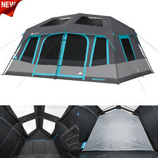 a29a034c9bef 10 Person Instant Cabin Tent Family Camping Equipment Gear Sleeping Bag  Hiking