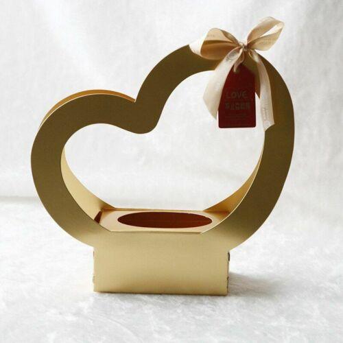 5pcs Heart Flower Boxes Folding Paper Box Portable Paperboard Engagement Decors