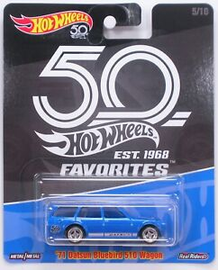 Hot Wheels Favorites-/'60s Ford Econoline Pickup /& /'71 Datsun Bluebird 510 Wagon