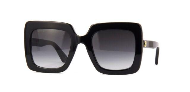 f091da98123 Gucci Gg0328s 001 Black Grey Gold Sunglasses for sale online