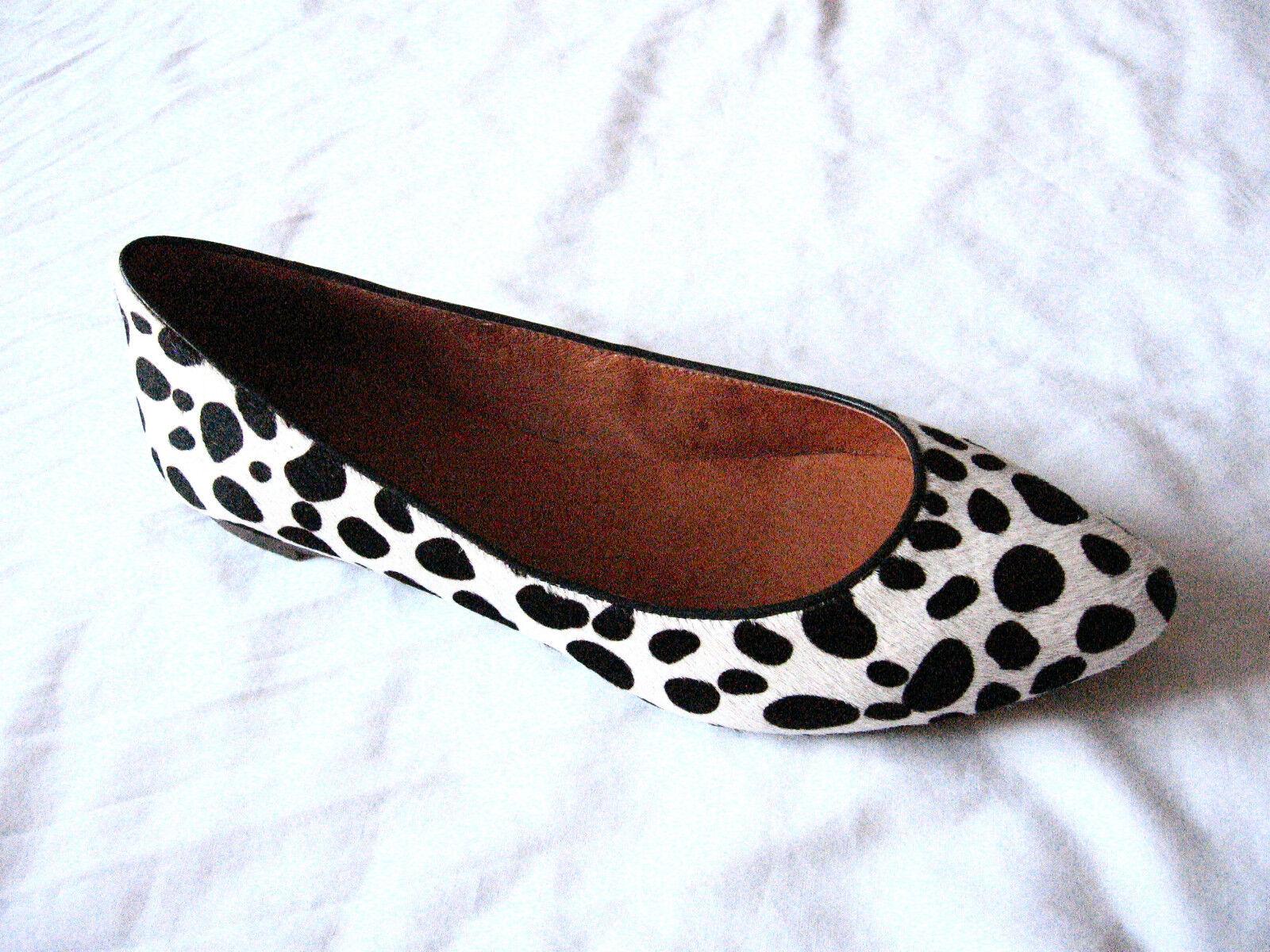 Madewell New in Box Box Box Leopard Sidewalk skimmer in calf ha color Black White ae96d2