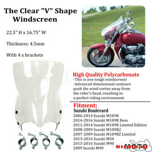 Details about Windscreen Flyscreen Fairing Windshield Frame Fit Suzuki  Boulevard M50 M90 M109R