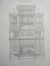 Buffet salle à manger ornements HENRI II  GRAVURE le GARDE-MEUBLE MIDART XIXéme