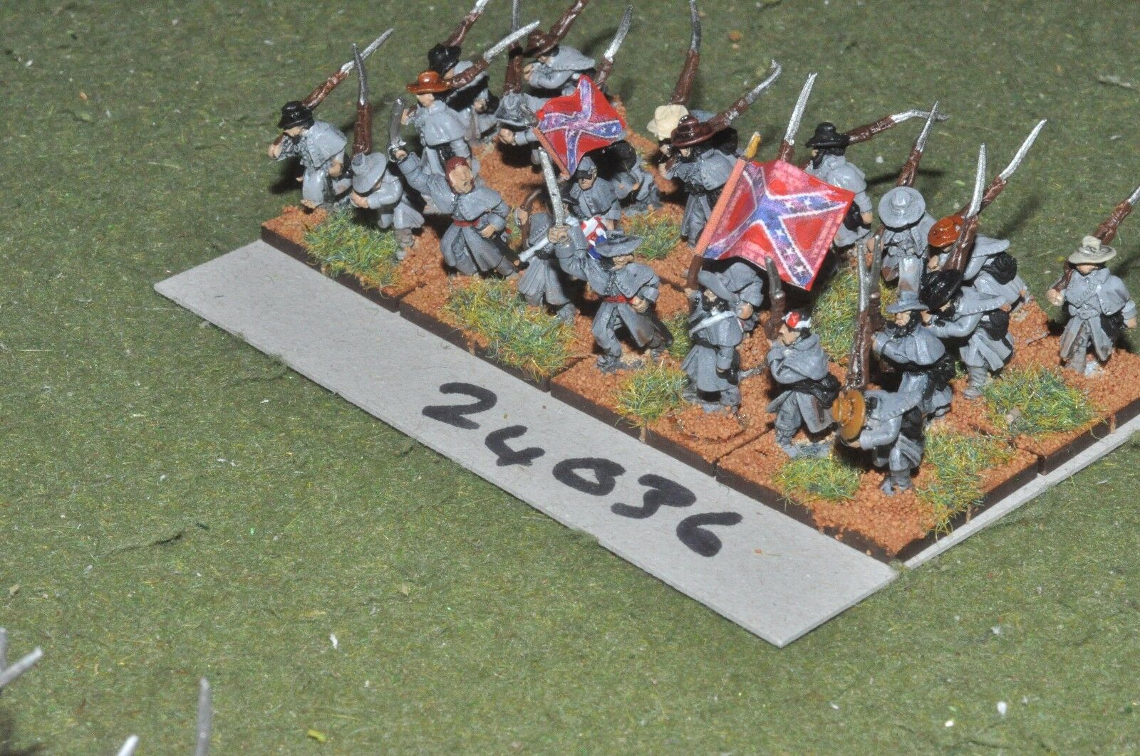 15mm ACW confederate - regiment 24 figures inf (24036) - nvself4007