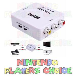 RCA-AV-To-HDMI-HDTV-Converter-For-Nintendo-NES-SNES-N64-Gamecube-Wii-Sega-PS2