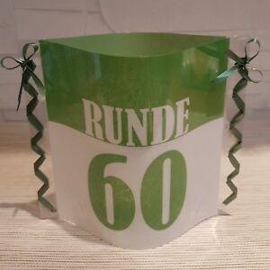 Tischdeko Windlicht Aus Servietten 60 Geburtstag Partyartikel Happy
